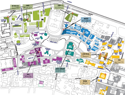 Campus Map with locations of IT Service Desks